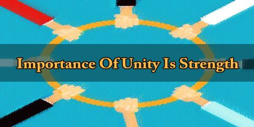 Importance Of Unity Is Strength