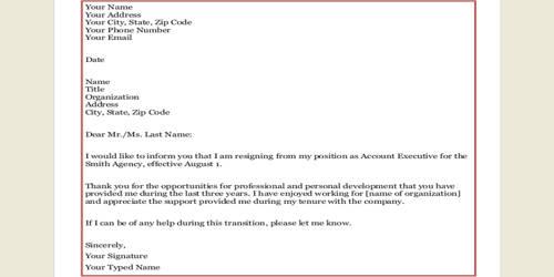 Official Retirement Letter Format