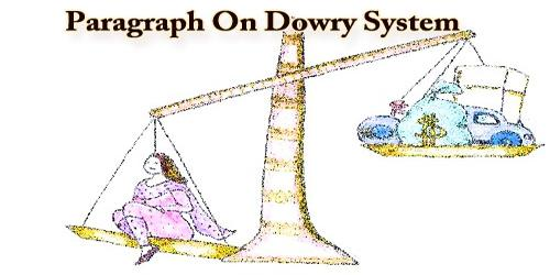 Paragraph On Dowry System