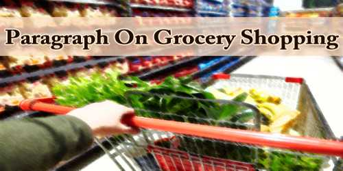 Paragraph On Grocery Shopping