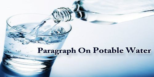 Paragraph On Potable Water
