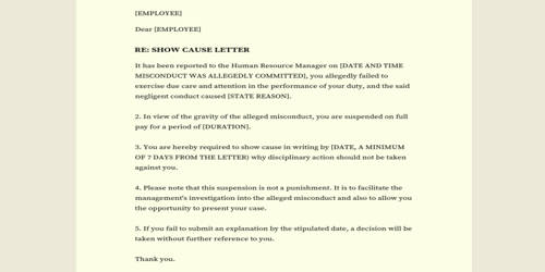 Response to Accusations Letter – a Sample Format