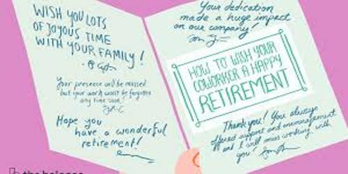 Sample Retirement Wishes Letter Format