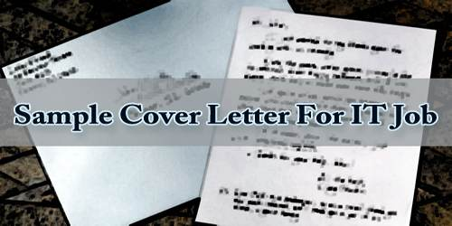 Sample Cover Letter For IT Job