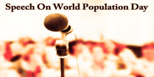 Speech On World Population Day