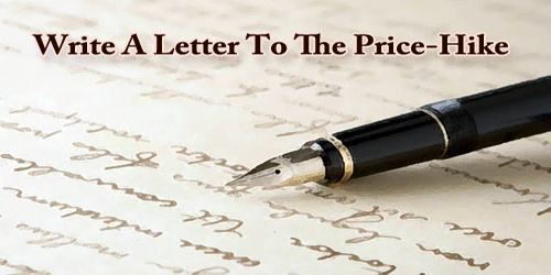 Write A Letter To The Price-Hike