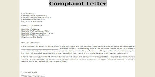 Resignation Letter with Complaint