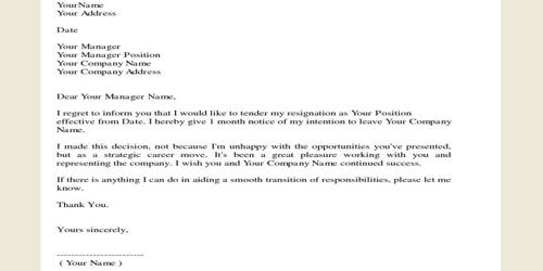 Resignation Letter With Thanks To Company from www.assignmentpoint.com