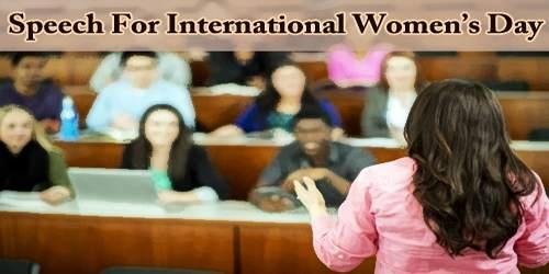 Speech For International Women's Day