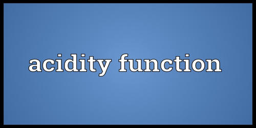 Acidity Function