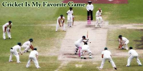 Cricket Is My Favorite Game