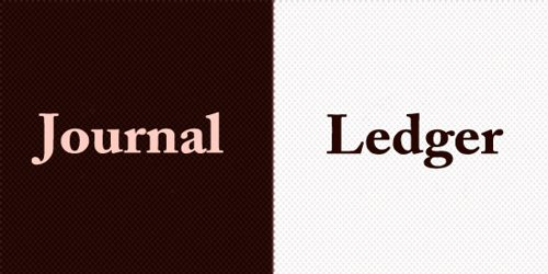 Difference Between Journal And Ledger