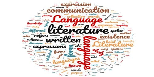 Contrast between Literature and Language