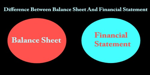 Difference Between Balance Sheet And Financial Statement