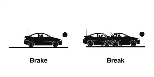 Difference between Break and Brake
