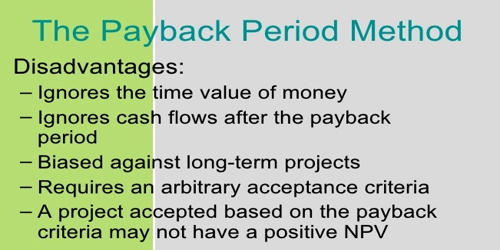 Disadvantages of Pay Back Period (PBP)
