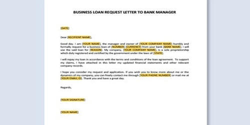 Loan Request Letter to Bank Authority