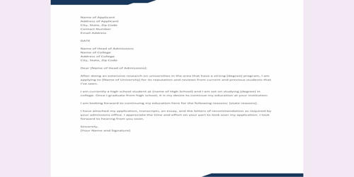 Request Letter for Course Information