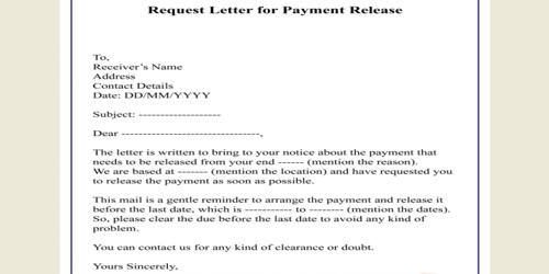Sample Letter for Requesting Payment