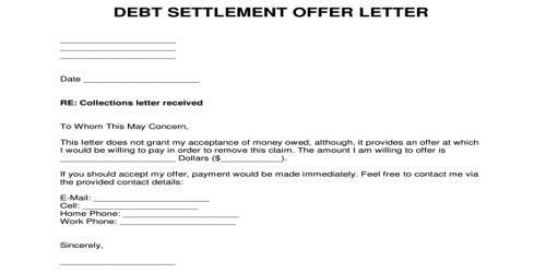 Sample Settlement Release letter Format