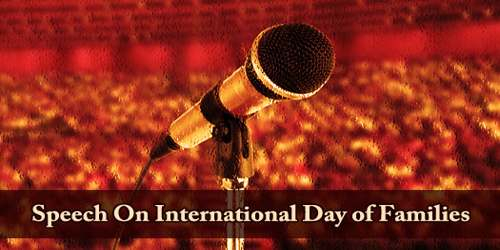 Speech On International Day of Families