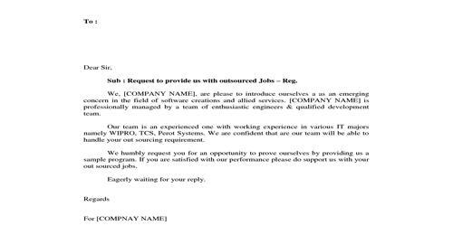 Sample Job Request Letter
