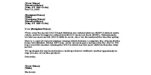 Refund Request Letter