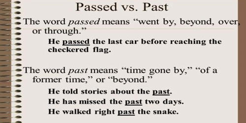 Difference between Passed and Past