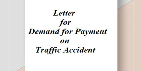 Letter for Demand for Payment on Traffic Accident