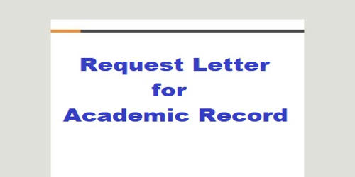 Request Letter for Academic Record