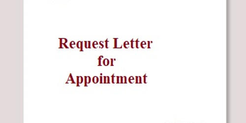 Request Letter for Appointment