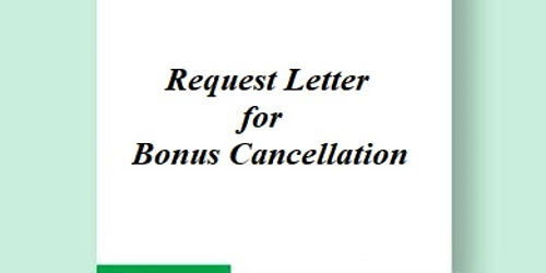 Request Letter for Bonus Cancellation