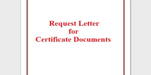 Request Letter for Certificate Documents