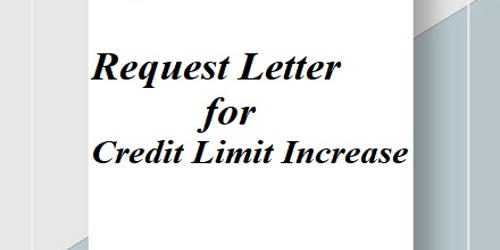 Request Letter for Credit Limit Increase