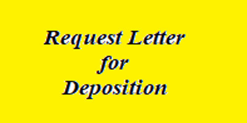 Request Letter for Deposition