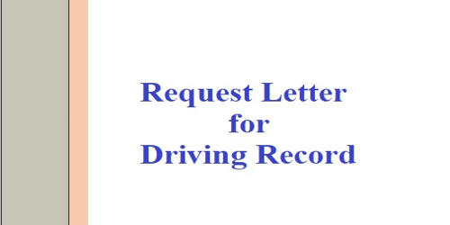 Request Letter for Driving Record