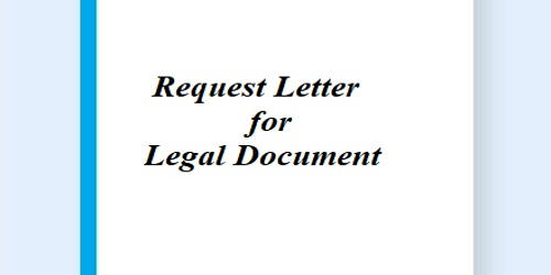 Request Letter for Legal Document