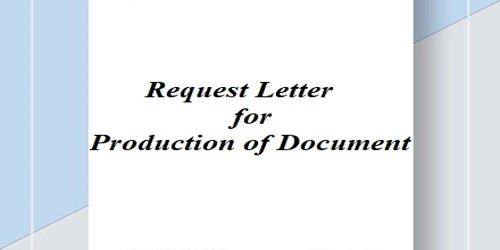 Request Letter for Production of Document