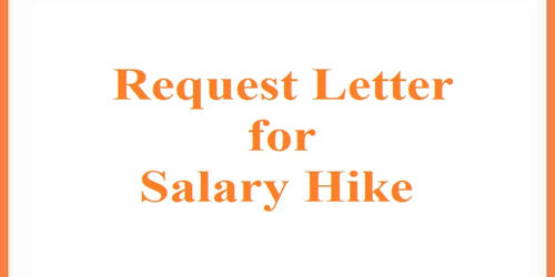 Request Letter for Salary Hike