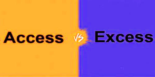 Difference between Access and Excess