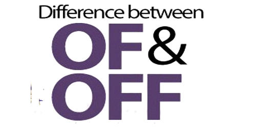 Difference between Of and Off