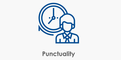 Punctuality – doing things at the right time