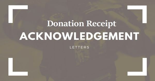 Acknowledgment Letter for Donation Receipt