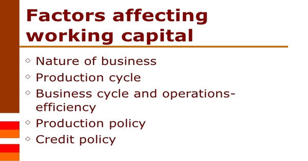 Factors that Affecting Working Capital