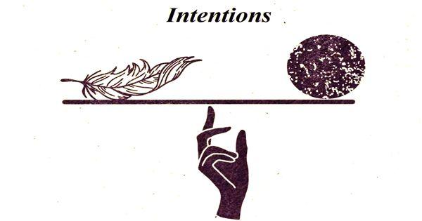 Intentions – an Open Speech