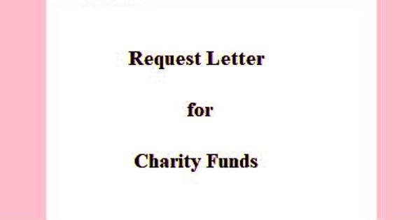 Request Letter for Charity Funds