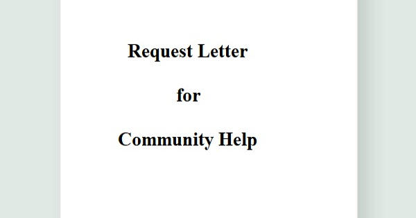 Request Letter for Community Help