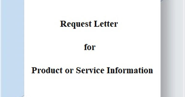 Request Letter for Product or Service Information