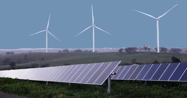 Solar and wind power is gradually replacing Coal