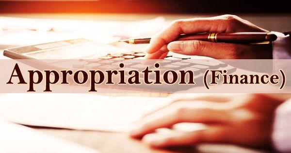 Appropriation (Finance)